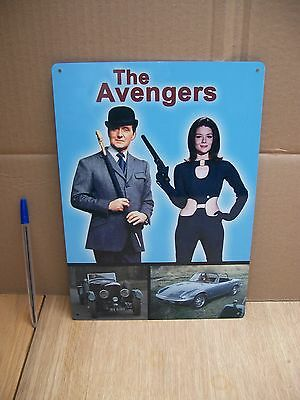 The Avengers Classic Tv Car- Bentley Speed Six-Lotus Elan Tin Poster Sign