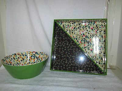 NIB Oh Joy Holiday Serving Bowl & Oh Joy Holiday Tray (2 pack) !