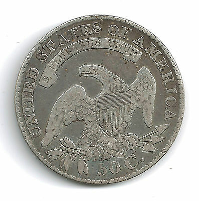 USA : 1829 Capped Busted Half Dollar 1829 over 7 !!