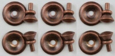 Dollhouse Miniature Oil Rubbed Bronze Round Brass Door Knobs by Handley House