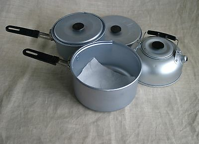 Gelert Camping  Aluminium Cooking Pan and kettle set. Lightly used.  Folding