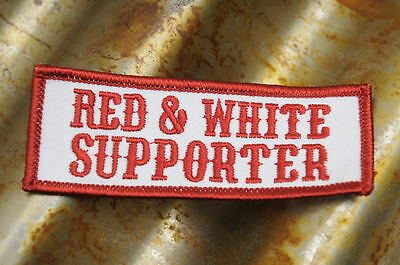 "Hells Angels Tucson, AZ USA - "" Red and White Supporter ""- Red & White Patch"