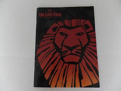 Program Book Disney Presents The Lion King The Broadway Musical