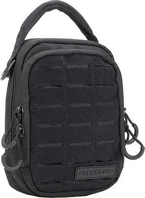 "Nitecore NCNUP20 Utility Pouch Black w/Fabric Front 8.66"" x 2.36"""