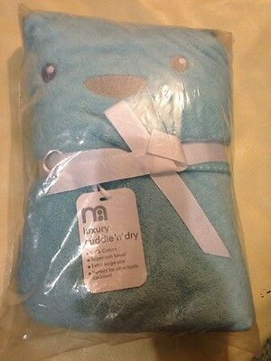 BNWT Boys Blue Hooded Towel