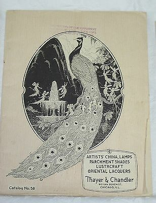 1925 Thayer & Chandler Catalog #58 79 pages Household Decorative Items/Supplies