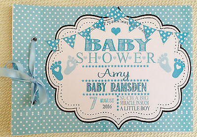 Personalised Guest Book, Memory Album Baby Shower/christening-In Any Colour