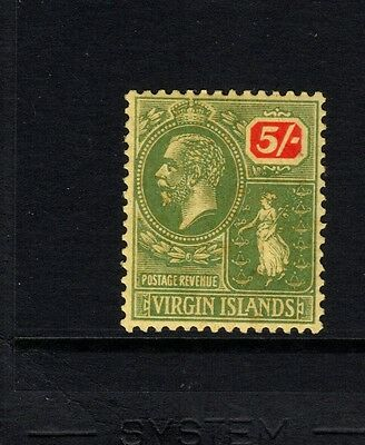 Virgin Islands 1923 5/. green & red/yellow -SG101 - LIGHTLY MOUNTED  MINT