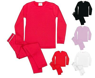 Rocky Girl's Fleece Lined Thermal 2PC Top and Bottom Underwear Set Long Johns
