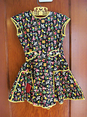 Vtg Handmade Little Girl's Cobbler's Apron Full Design Pinafore ADORABLE VGVond