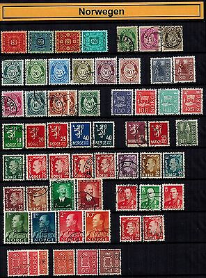Welt Sammlung  Lot 14 Norwegen / Norway stamps collection