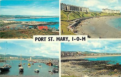 s07775 Port St Mary, Isle of Man postcard unposted
