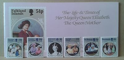 TV Times Queen Mother 85th Birthday Souvenir Stamp Album - with complete stamps