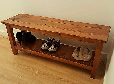Urban Style Rustic Wooden Shoe Rack Bench (Reclaimed Wood)