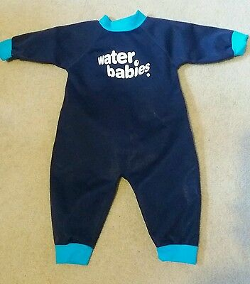Water babies wetsuit small blue