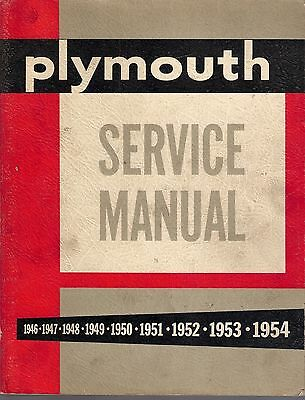 #008 1946-1954 Plymouth Service Manual #D14786