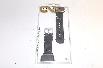 Case Mate Facets Smartwatch Band for Apple Watch 38mm Black CM032783