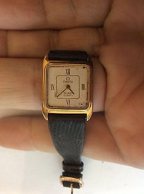 Vintage ladies Omega De Ville gold dress wrist watch A/F