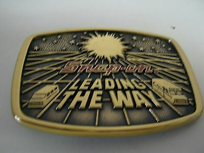 "1988 limited edition brass Snap-On Tools ""Leading the Way"" belt buckle SSX1232"