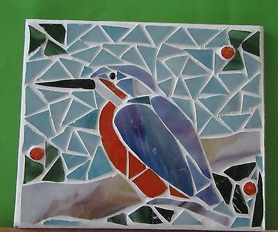 """Stained Glass Mosaic, """" Kingfisher"""""""