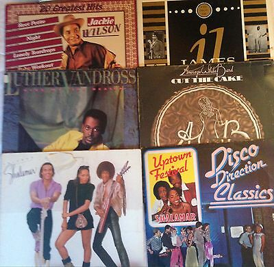 Set Of 6 Vinyl Albums In Good Condition. Soul And Funk And Dance. Great Tracks!