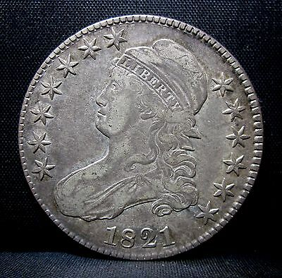 1821 Capped Bust Half Dollar ✪ Xf Extra Fine ✪ 50C Silver L@@k Now ◢Trusted◣