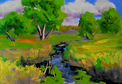 original oil painting plein air painting contemporary art By Ken Burnside