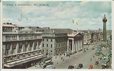"Early Postcard -Dublin -G. P. O. & O""connell St - Ireland - Real Photo"