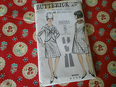Vintage Butterrick Sewing Pattern For A Dress And Jacket In Size Uk 16