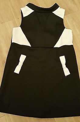 girls next black & white dress age 4 years