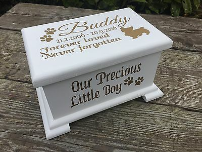 Small Personalised Pet Casket / Memorial box for Ashes / Keepsakes, Chunky Lid