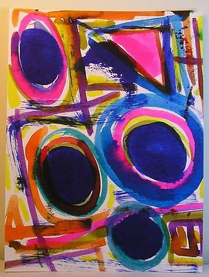 Rare Set 10 Original Paintings Urban Collection Raw Graffiti Style Abstracts