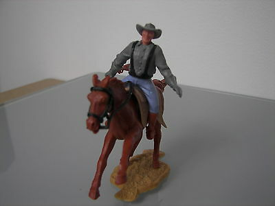 Timpo Toys Mounted Horeback Wild West Usa American Black Braces Confederate Rare
