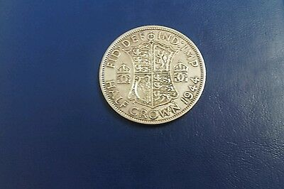 old british silver half-crown 1944 nice coin