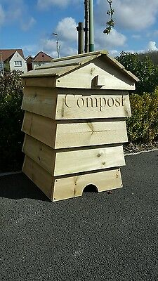 Stunning Beehive Compost Bin Wooden Garden Composter Recycling Bin personalised