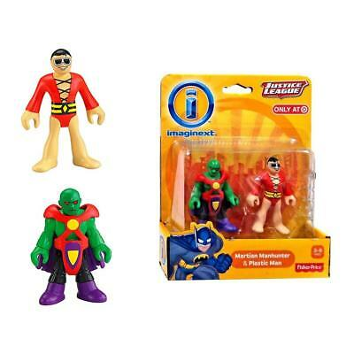 Imaginext Justice League: Martian Manhunter & Plastic Man Fisher-Price Toy CHOP