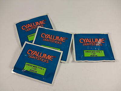 "4 x 1.5"" Cyalume CHEMLIGHT Lightstick NATO Issue Green Mini Type A Glow Sticks"