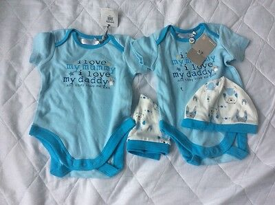 M&Co baby grows 6-9 months - twin boys