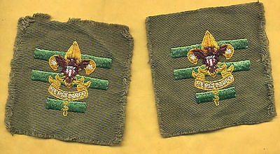 Two Vintage Boy Scout Senior Patrol Leaders Patches 1946 - 1954.