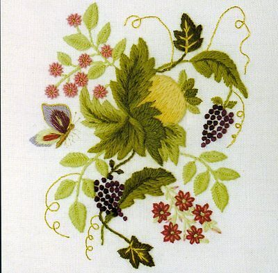 Elizabethan Tile 3- a crewel embroidery kit for beginners
