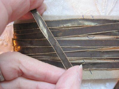 Antique Small Doll Size French Gold Metal Trim         6 1/2 Yards