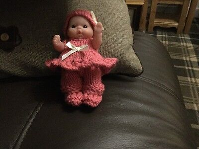 5 Inch Hand Knitted Dolls Clothes suitable for Berenguer Doll