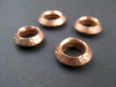 Copper Ethiopian Wollo Rings 18mm Set of 4 African Large Hole Handmade