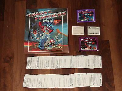 Transformers 1986 Panini empty Sticker Album with all 256 loose stickers & more
