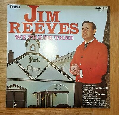 JIM REEVES - WE THANK THEE - LP / RECORD - RCA CAMDEN - CDS 1111 ex+