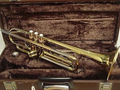 Yamaha YTR2320E GOLD Bb Brass Used Student TRUMPET Mouthpiece HARD CASE