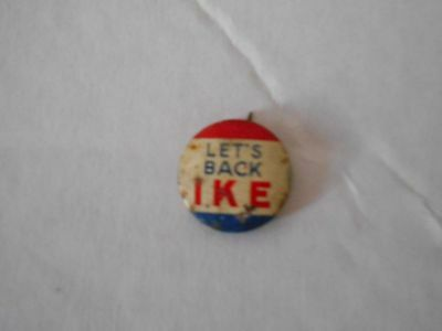 Let's Back Ike -- Campaign button