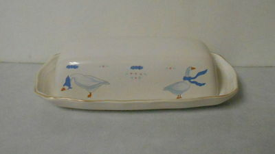 Newcore Stoneware Country Goose Covered Butter Dish