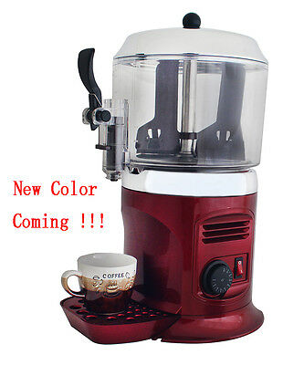 Red 110V 5L hot chocolate dispenser drinking machine free shipping low price NEW