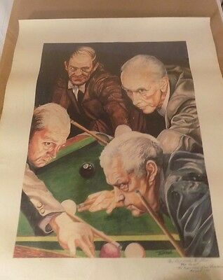 Vintage Pool & Billiard Print by The BIRKBECK Brothers Pool Legends collectibles